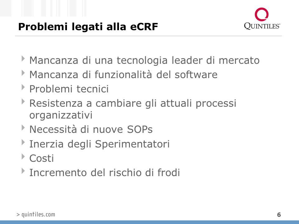 Problemi legati alla eCRF