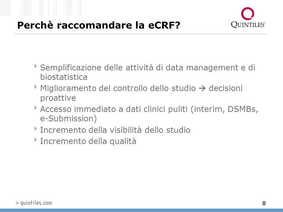 Perchè raccomandare la eCRF