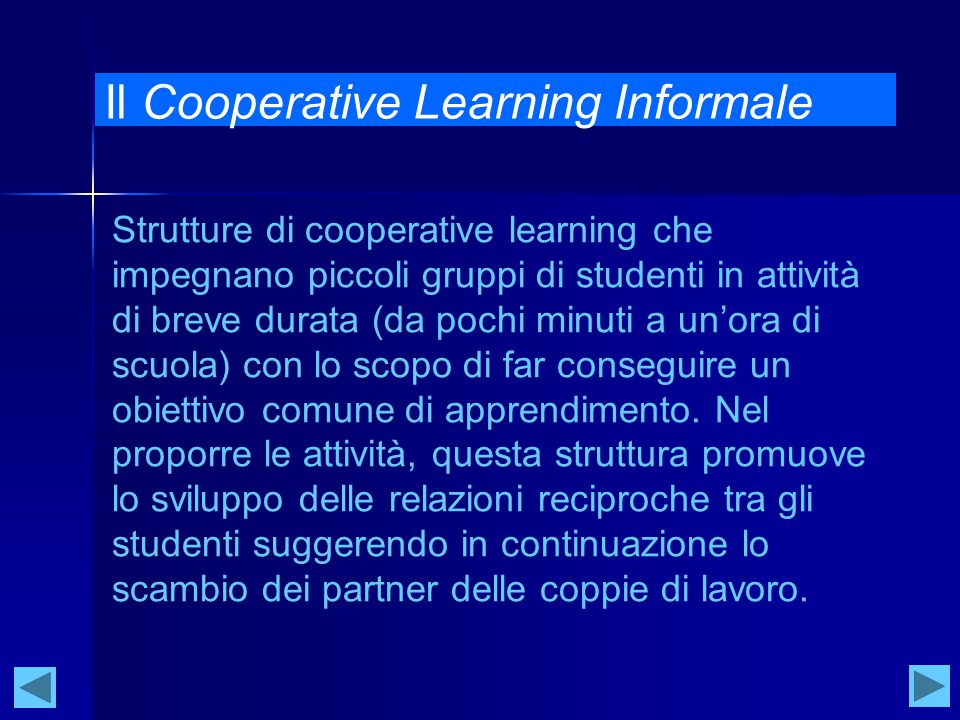 Il Cooperative Learning Informale
