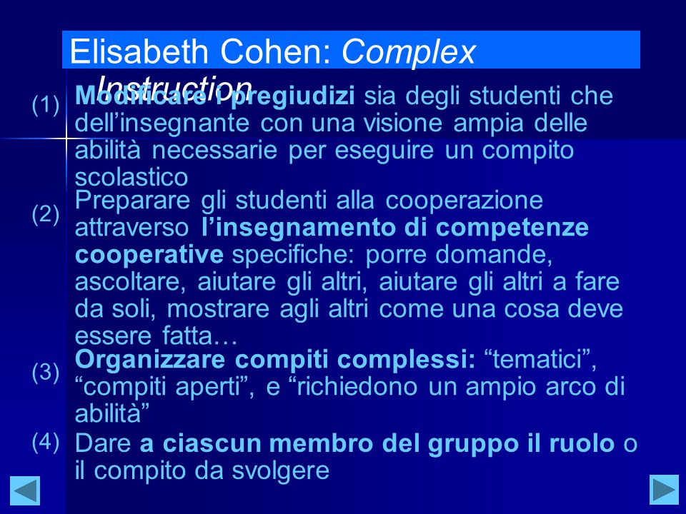 Elisabeth Cohen: Complex Instruction