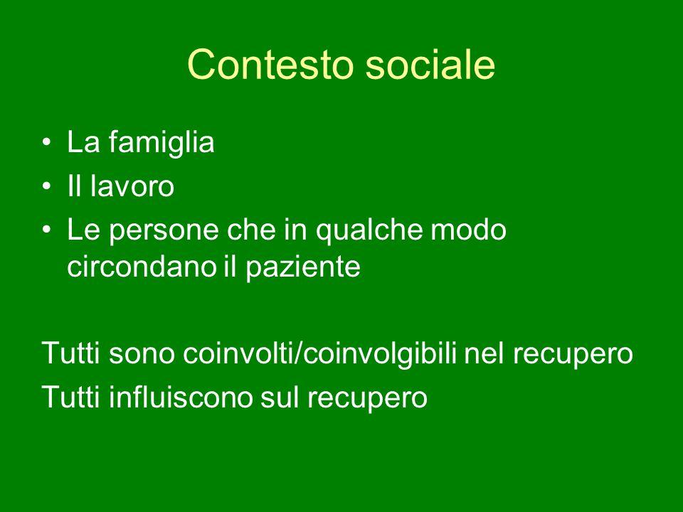 Contesto sociale La famiglia Il lavoro