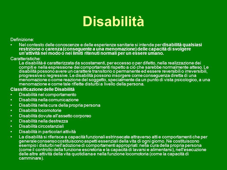Disabilità Definizione: