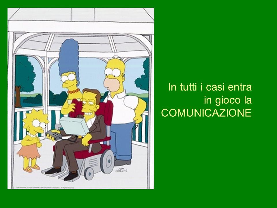 In tutti i casi entra in gioco la COMUNICAZIONE