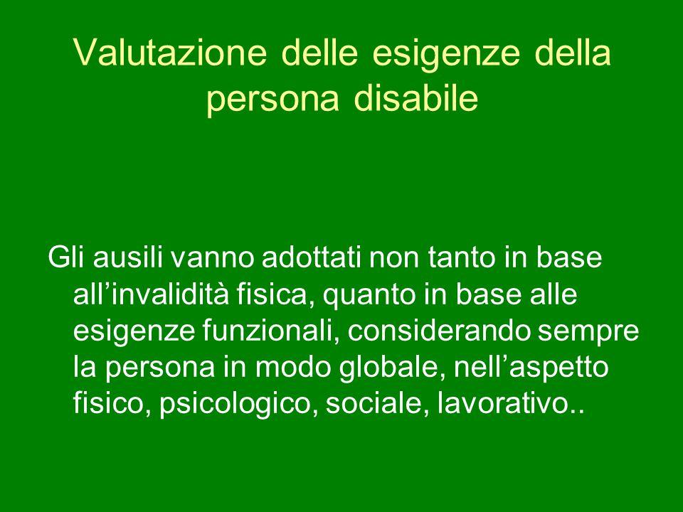 Valutazione delle esigenze della persona disabile