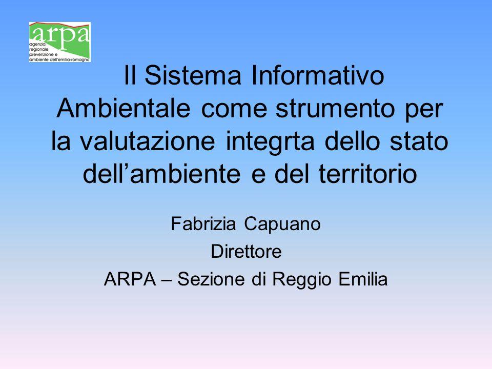 Fabrizia Capuano Direttore ARPA – Sezione di Reggio Emilia