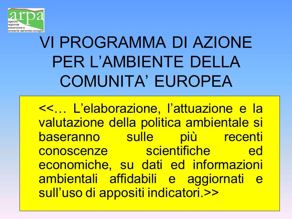 VI PROGRAMMA DI AZIONE PER L'AMBIENTE DELLA COMUNITA' EUROPEA