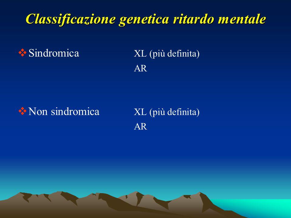 Classificazione genetica ritardo mentale
