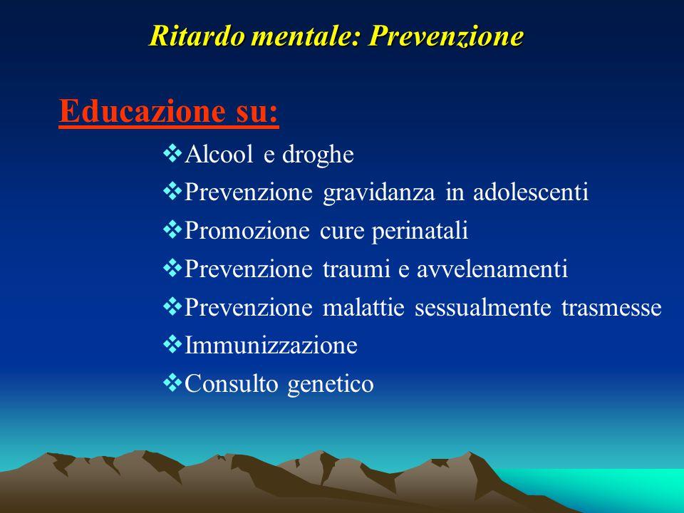 Ritardo mentale: Prevenzione