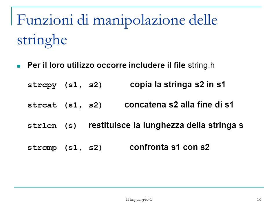 Funzioni di manipolazione delle stringhe