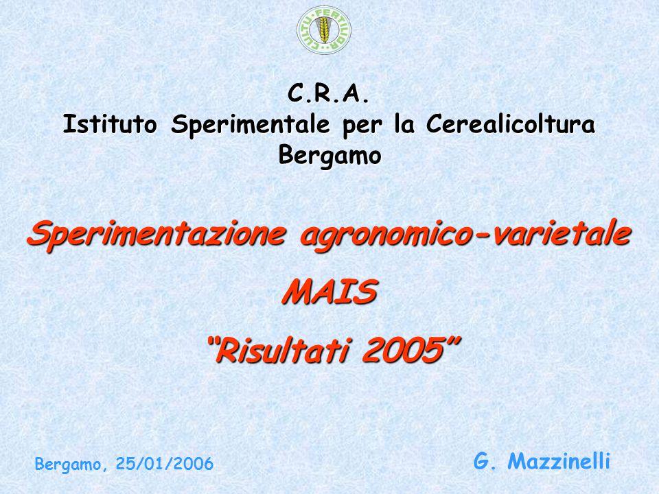 C.R.A. Istituto Sperimentale per la Cerealicoltura Bergamo