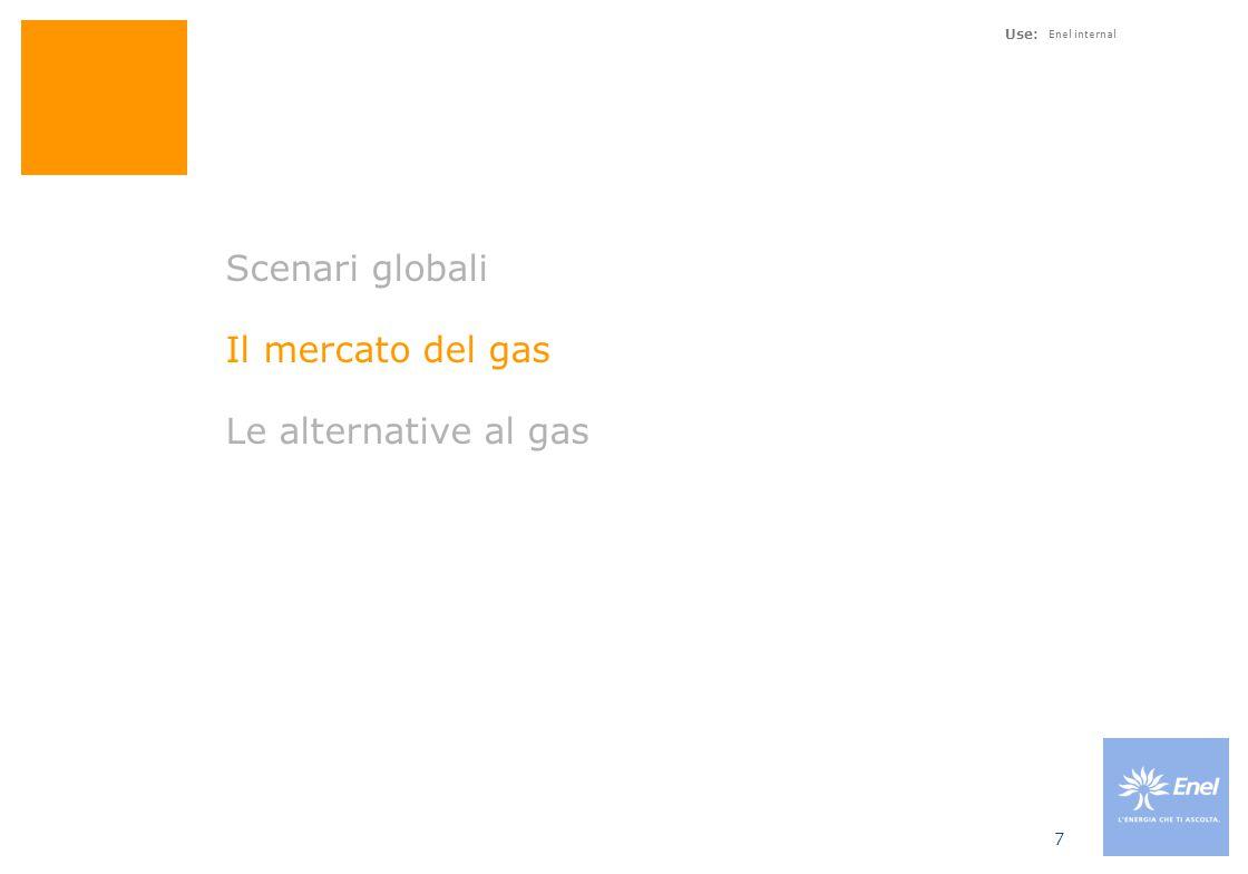 Consumi di gas in Italia miliardi di m3, 1999 - 2006