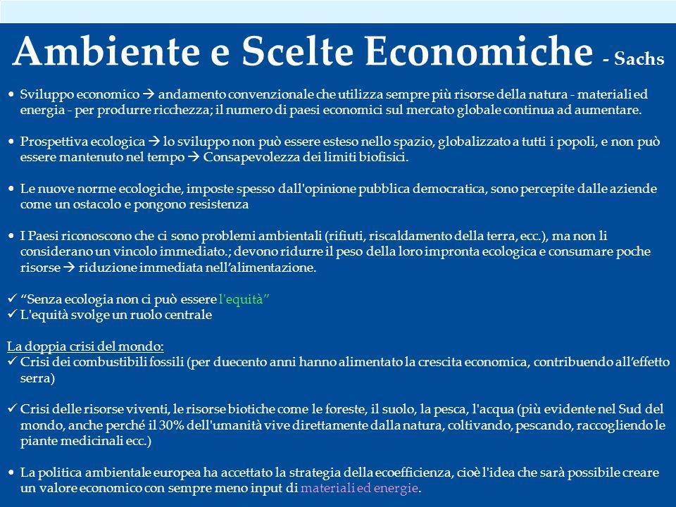 Ambiente e Scelte Economiche - Sachs