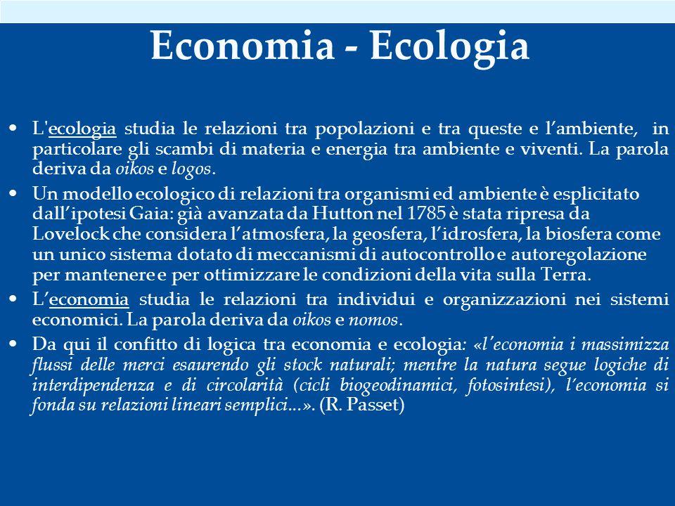 Economia - Ecologia