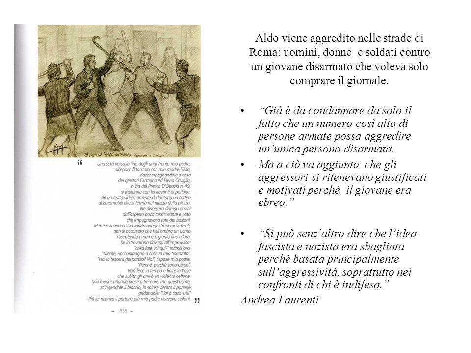 Aldo viene aggredito nelle strade di Roma: uomini, donne e soldati contro un giovane disarmato che voleva solo comprare il giornale.