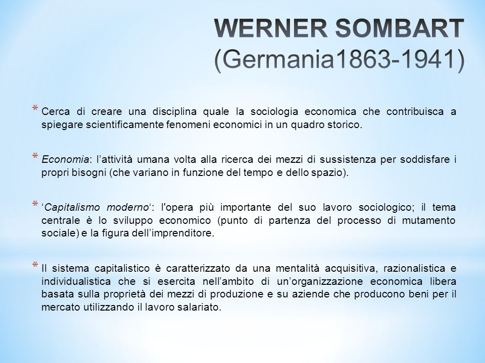 WERNER SOMBART (Germania1863-1941)