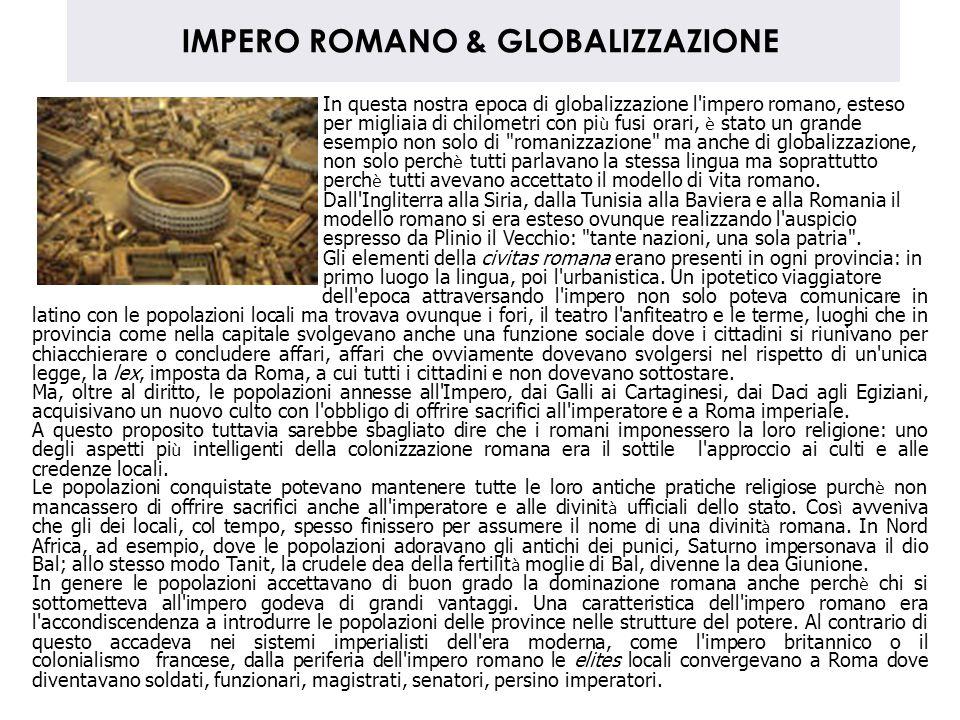 IMPERO ROMANO & GLOBALIZZAZIONE