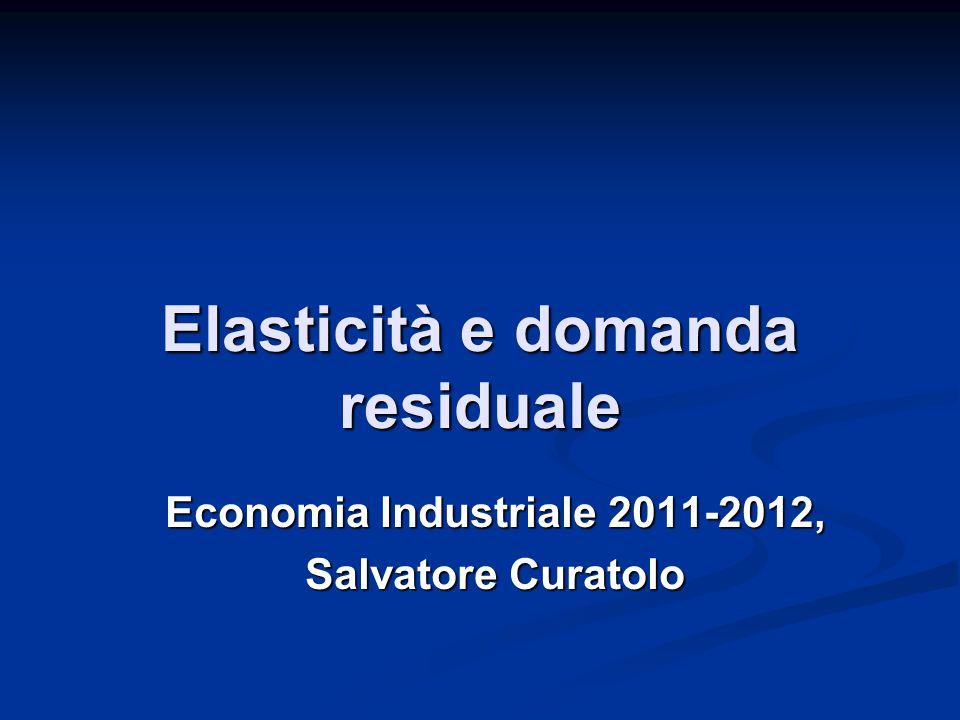 Elasticità e domanda residuale
