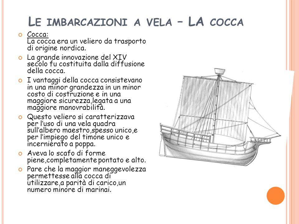 Le imbarcazioni a vela – LA cocca