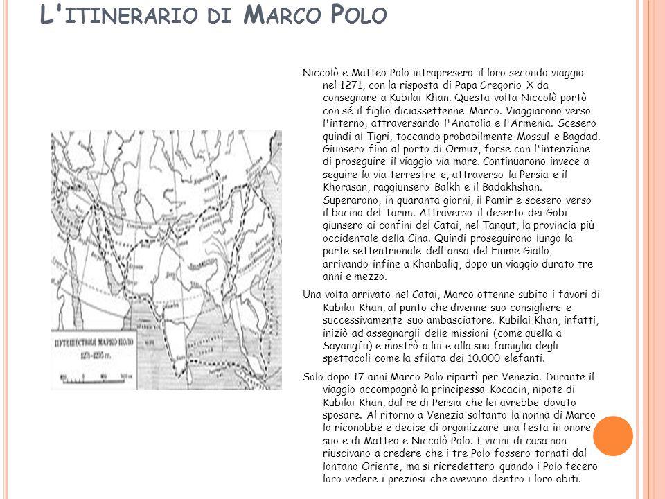 L itinerario di Marco Polo
