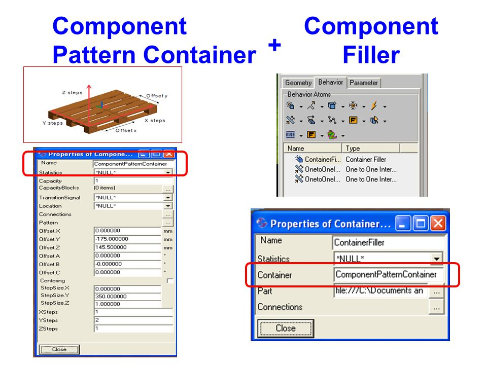 Component Pattern Container