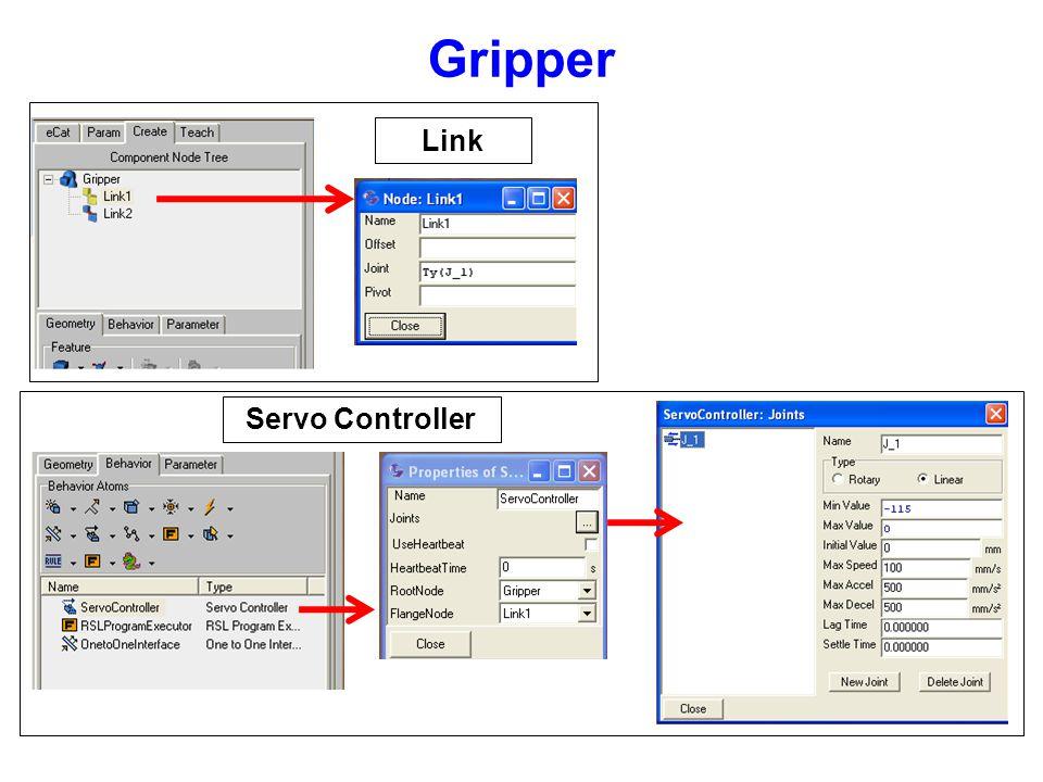 Gripper Link Servo Controller