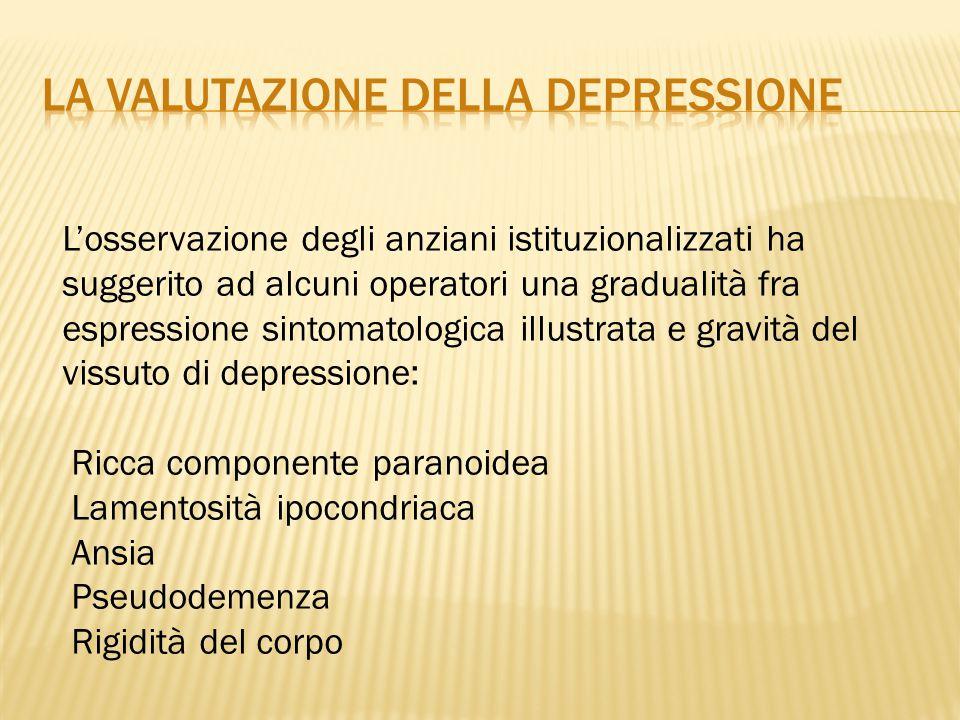 La valutazione della depressione