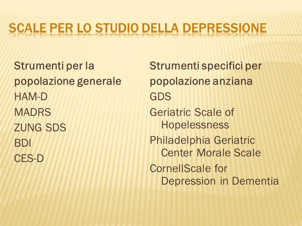 scale per lo studio della depressione