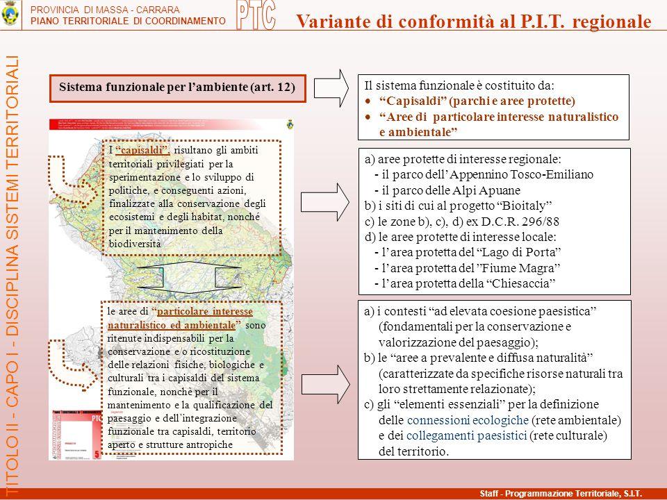 Sistema funzionale per l'ambiente (art. 12)