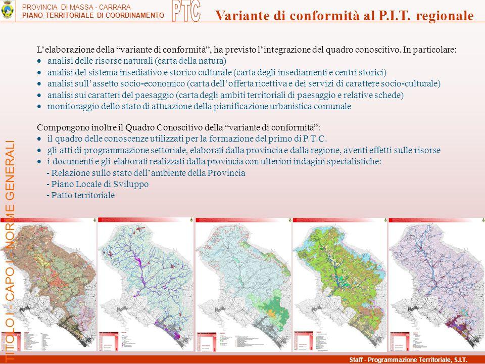 PTC Variante di conformità al P.I.T. regionale