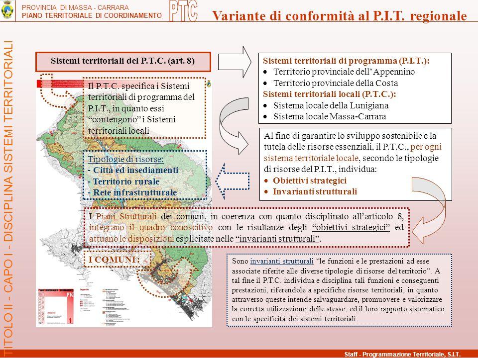 Sistemi territoriali del P.T.C. (art. 8)