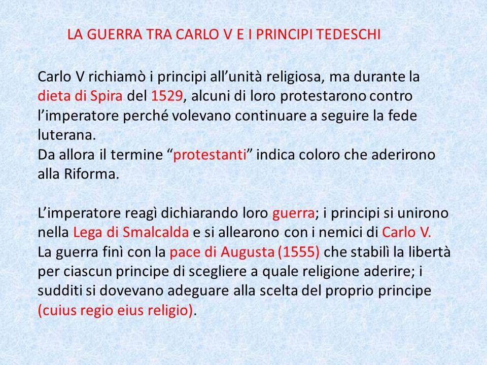 LA GUERRA TRA CARLO V E I PRINCIPI TEDESCHI