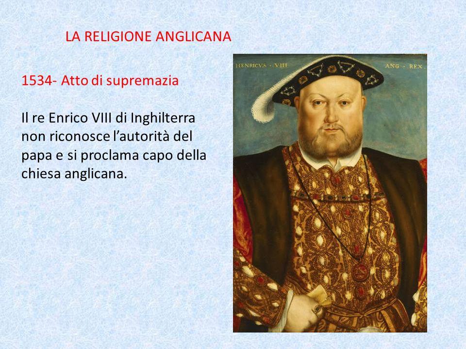 LA RELIGIONE ANGLICANA