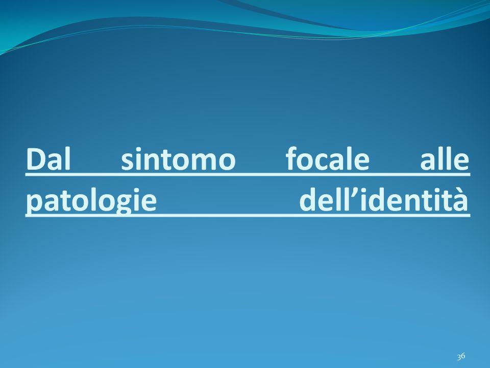 Dal sintomo focale alle patologie dell'identità