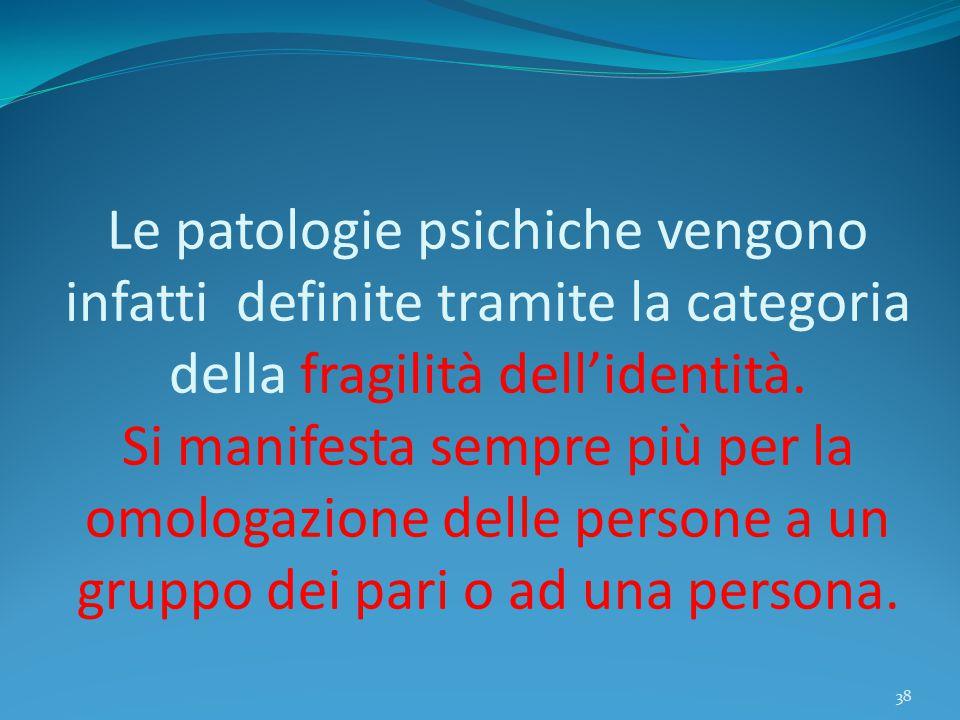 Le patologie psichiche vengono infatti definite tramite la categoria della fragilità dell'identità.