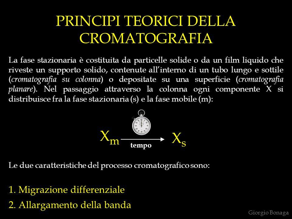 PRINCIPI TEORICI DELLA CROMATOGRAFIA