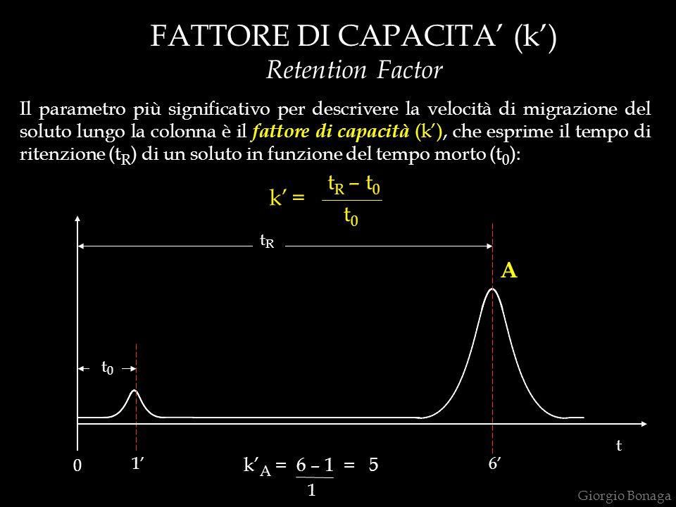 FATTORE DI CAPACITA' (k')