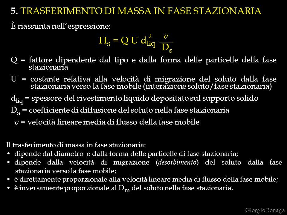 5. TRASFERIMENTO DI MASSA IN FASE STAZIONARIA