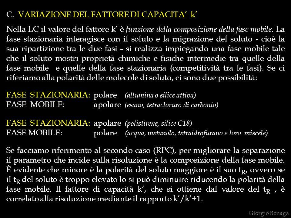 C. VARIAZIONE DEL FATTORE DI CAPACITA' k'