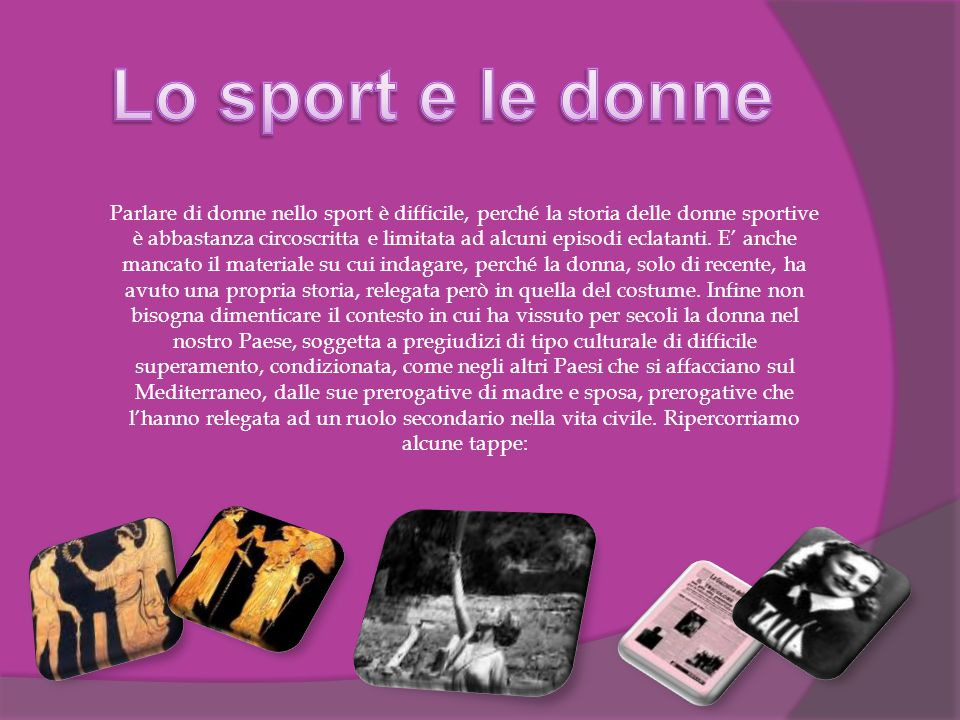 Lo sport e le donne