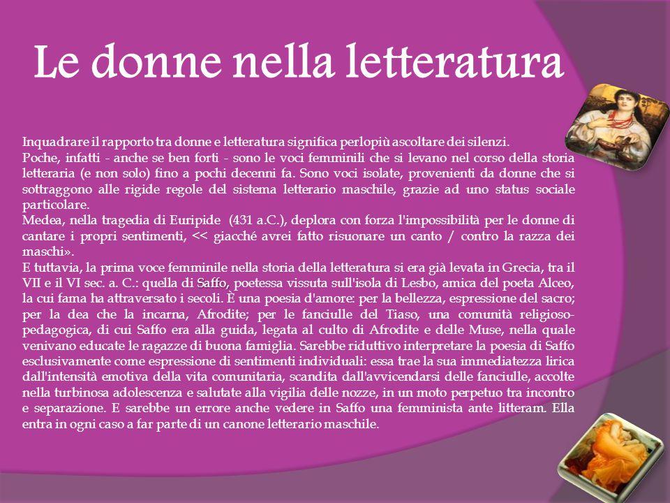 Le donne nella letteratura