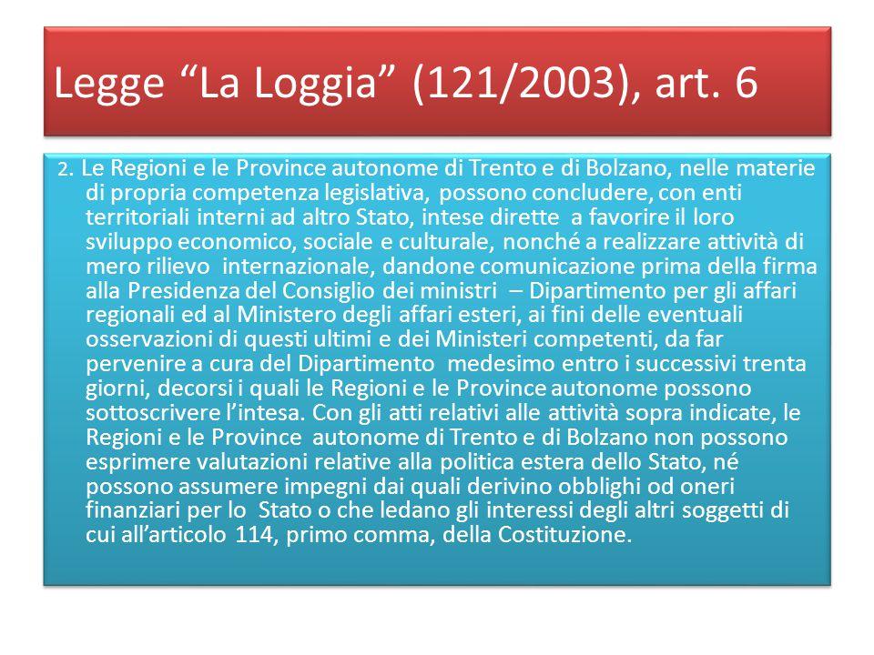 Legge La Loggia (121/2003), art. 6