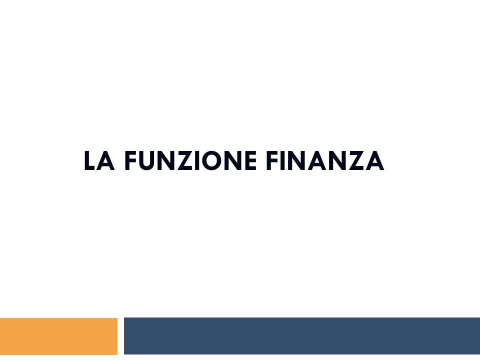 La funzione finanza