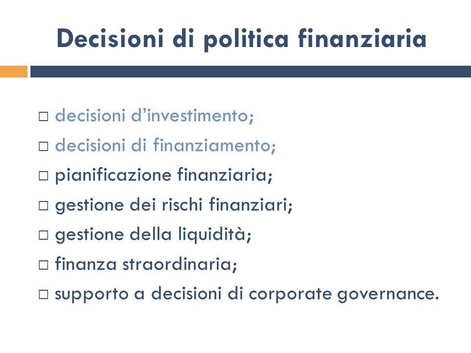 Decisioni di politica finanziaria