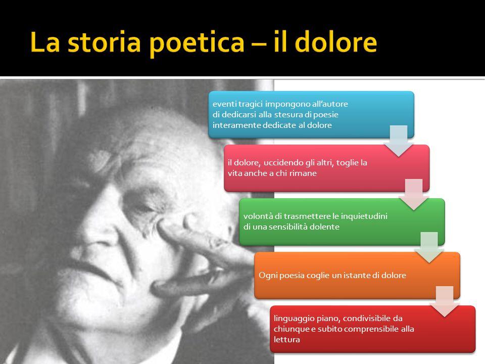 La storia poetica – il dolore