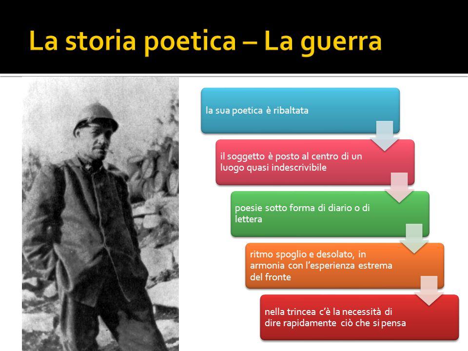 La storia poetica – La guerra