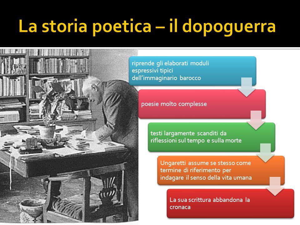 La storia poetica – il dopoguerra