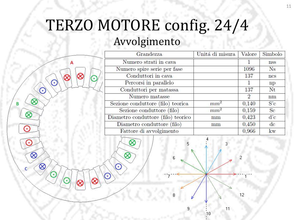 TERZO MOTORE config. 24/4 Avvolgimento