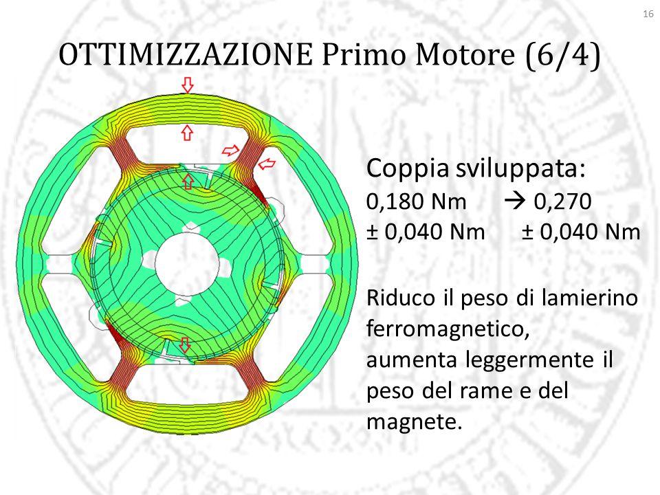 OTTIMIZZAZIONE Primo Motore (6/4)
