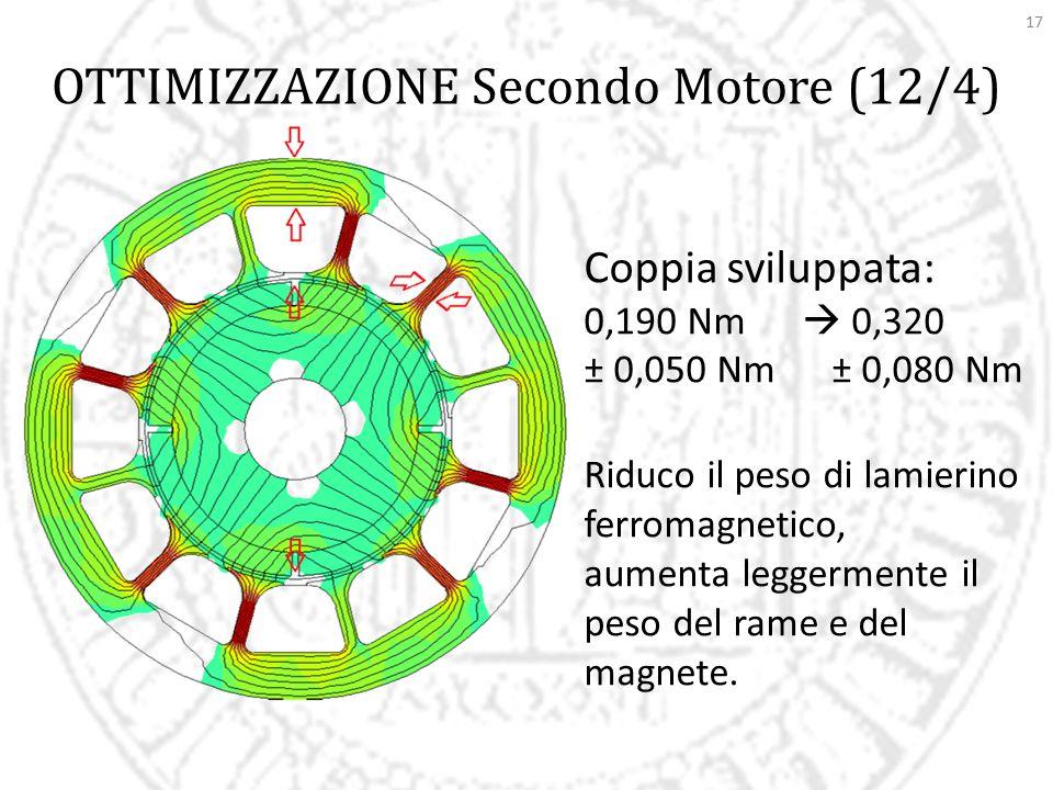 OTTIMIZZAZIONE Secondo Motore (12/4)