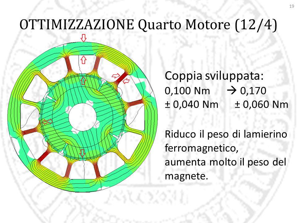 OTTIMIZZAZIONE Quarto Motore (12/4)